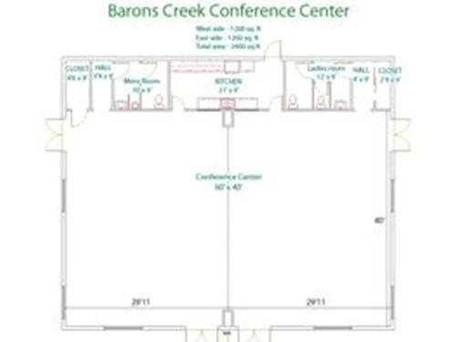 barons creek conference center room map